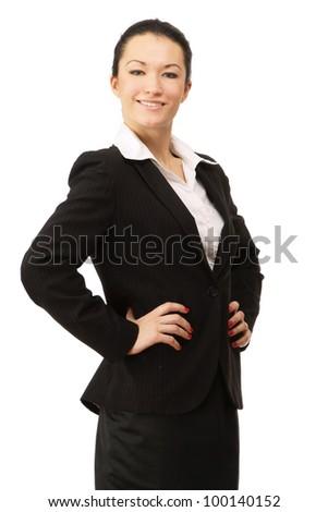 Portrait of a happy businesswoman - stock photo