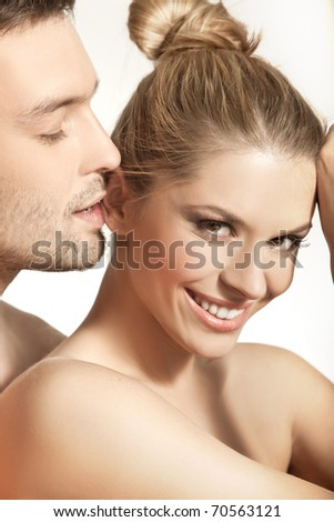 Portrait of a happy married - stock photo