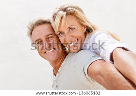 Portrait of a happy romantic couple. - stock photo