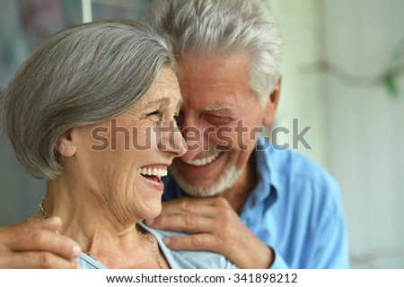 Portrait of a happy senior couple at home