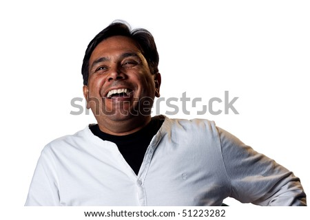 Portrait of a happy smiling business man - stock photo
