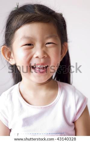 Portrait of a little Asian girl. - stock photo