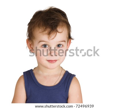 portrait of a  little boy - stock photo