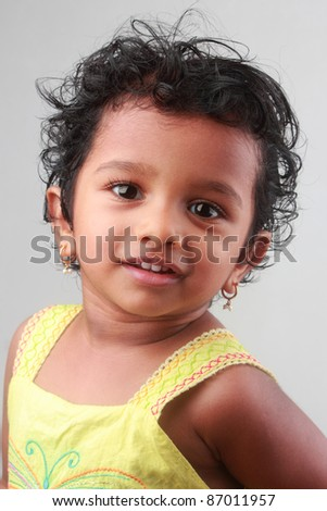 Portrait of a little girl - stock photo