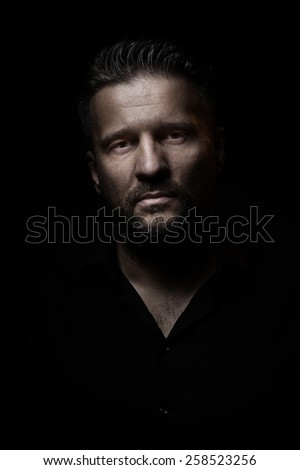 Portrait of a man, closeup - stock photo