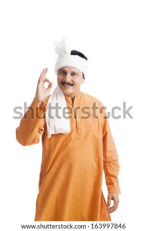 Portrait of a man gesturing - stock photo