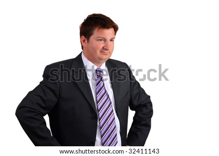 Portrait of a man in a suite - stock photo