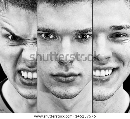 portrait of a man of emotion - stock photo