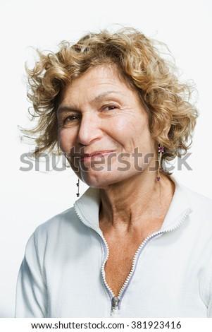 Portrait of a mature adult woman - stock photo