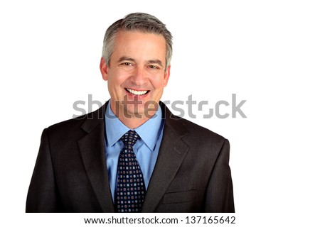 Portrait of a mature business man - stock photo