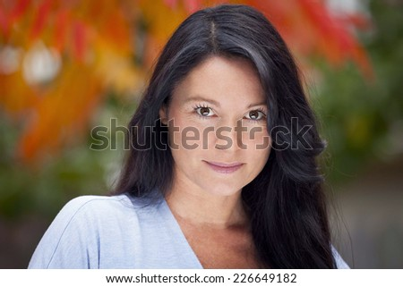 Portrait Of A Mature Italian Woman  - stock photo