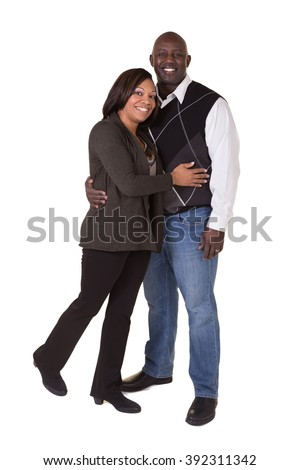 Portrait of a middle aged couple  - stock photo