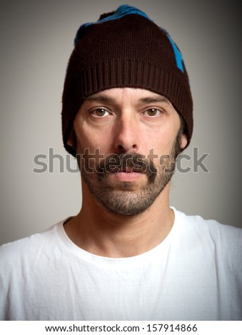 portrait of a middle aged man - stock photo