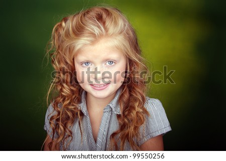 portrait of a nice girl - stock photo