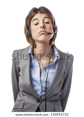 portrait of a pretty executive young woman - stock photo