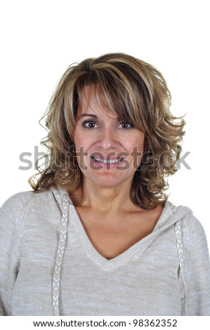 Portrait of a Pretty Middle Aged Woman