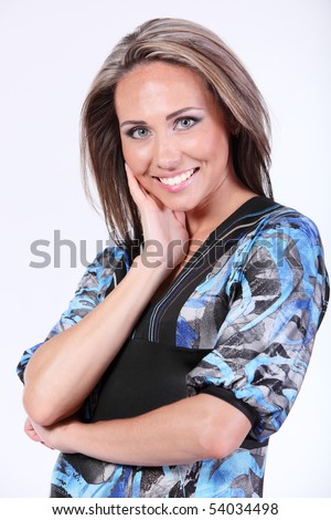 portrait of a pretty model - stock photo