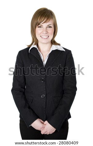 Portrait of a professional business woman isolated on white background - stock photo