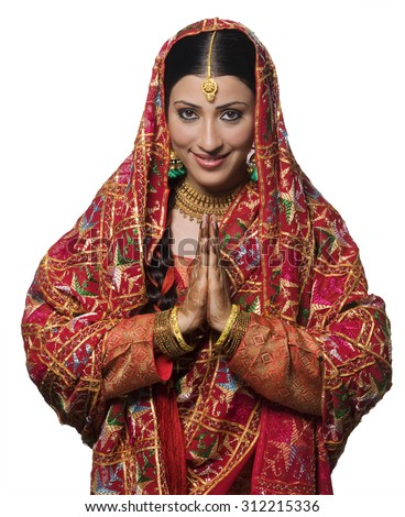 Portrait of a Punjabi bride