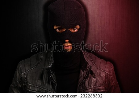 portrait of a scary thief