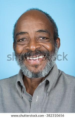 Portrait of a senior adult man - stock photo