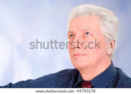 portrait of a senior guy in shirt