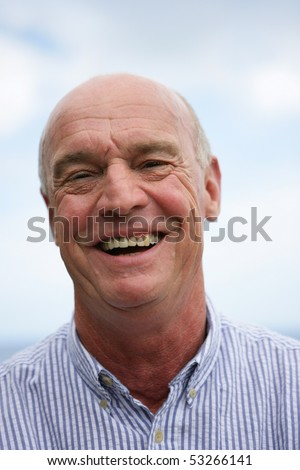 Portrait of a senior man laughing