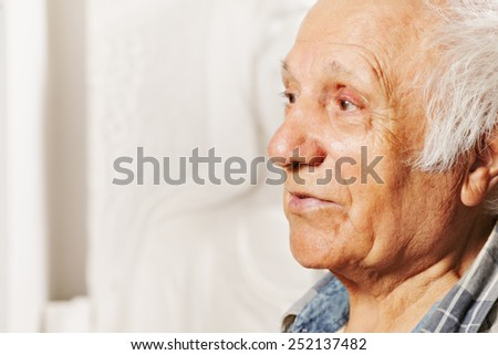 Portrait of a senior man looking sideways