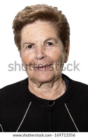 Portrait of a senior woman - stock photo