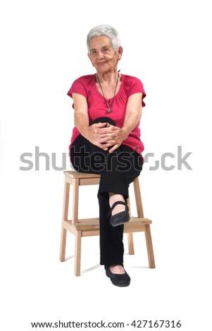 Portrait of a seniro woman - stock photo