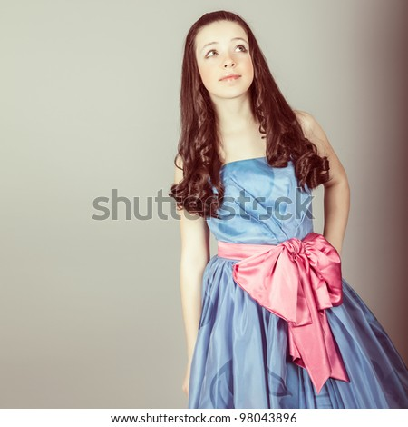 portrait of a sensual fantasy girl - stock photo