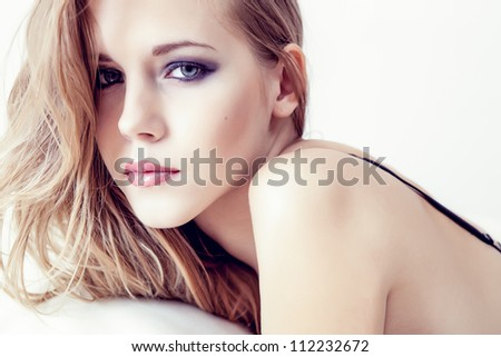 portrait of a sensual girl - stock photo