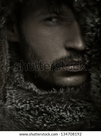 Portrait of a sexy man - stock photo