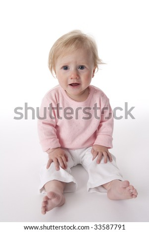 Portrait of a sitting baby