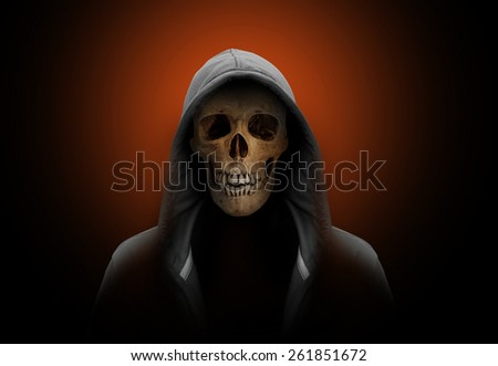 portrait of a skull - stock photo