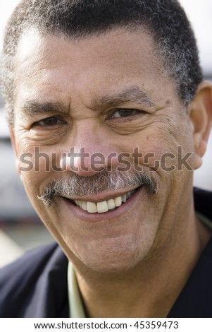 Portrait of a Smiling African American Man Outdoors