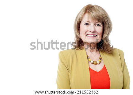 Portrait of a smiling beautiful senior woman