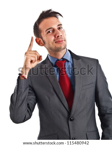 Portrait of a smiling businessman - stock photo