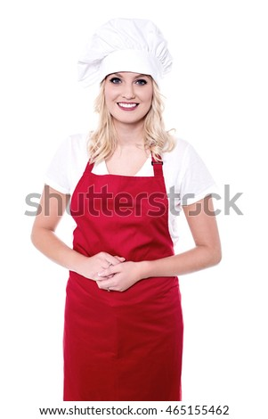 Portrait of a smiling confident female chef