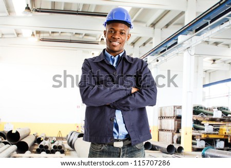 Portrait of a smiling engineer - stock photo