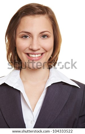Portrait of a smiling female executive in suit - stock photo