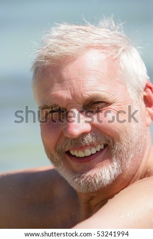 Portrait of a smiling old man