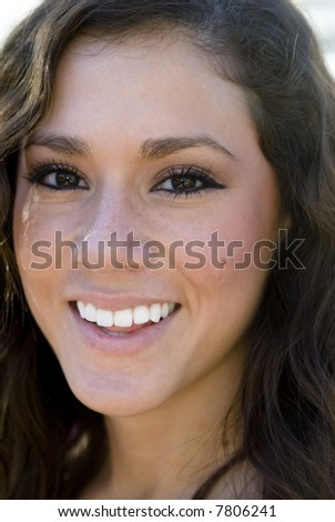 Portrait of a stunning young woman smiling