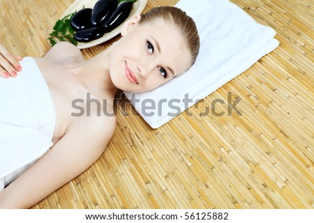 Portrait of a styled professional model. Theme: beauty, healthcare. - stock photo