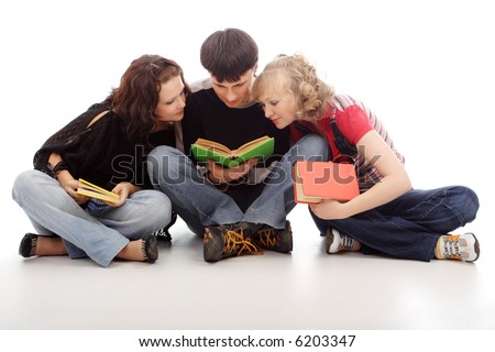 Portrait of a styled teen. Theme: teens, education, fashion - stock photo