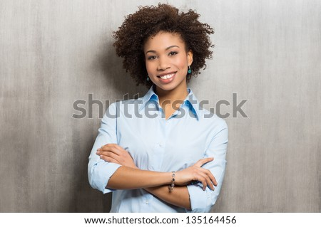 Portrait Of A Successful Business woman - stock photo
