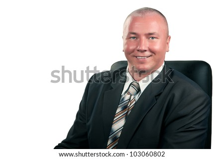 portrait of a successful businessman isolated on a white