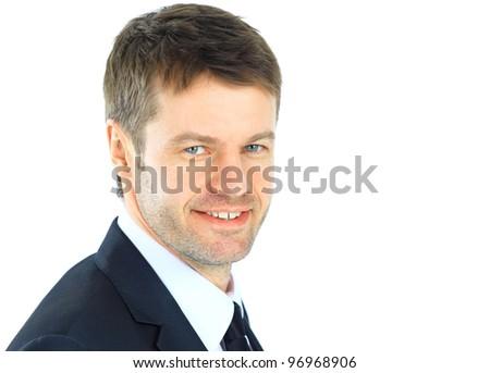 Portrait of a successful mature business man - stock photo