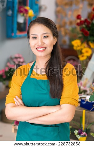 Portrait of a successful small business owner - stock photo