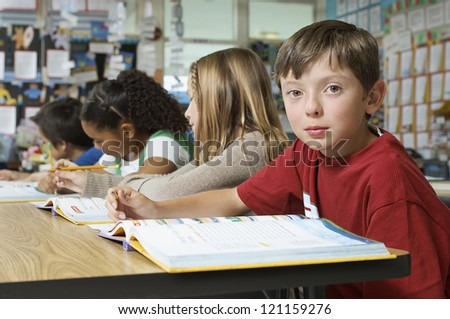African Girl Sitting At School Desk Stock Photos Images